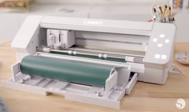 Silhouette Cameo 4 Machine with built-in vinyl roll feeder